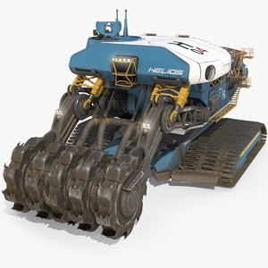 3D model sci-fi harvester