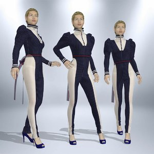 3D apparel fashion suit
