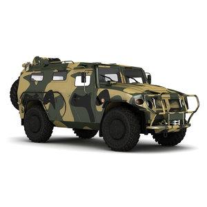 military gaz tigr 3D
