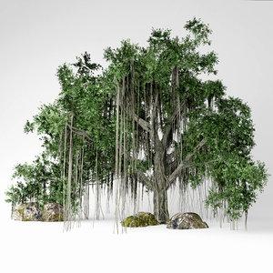 3D banyan tree