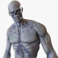rigged zombie mutant 3D model