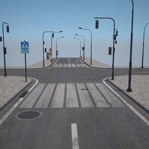 3D model road pavement