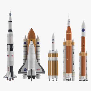 nasa space rockets 3D model
