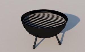 3D grill rack cook model