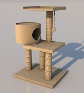 3D cat tree
