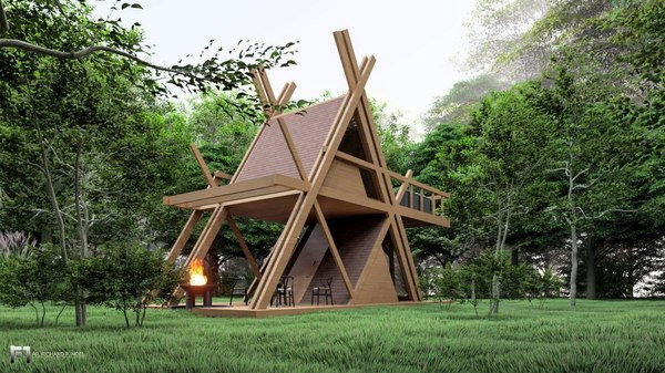 glamping camping tower 3D