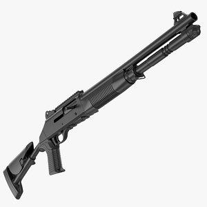 tactical benelli m4 super 3D model