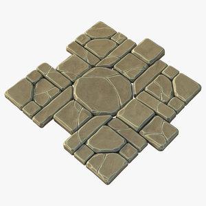 3d model runic floor