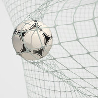 soccer net goal animation 3D model