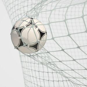 soccer net goal animation 3D model