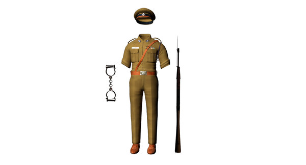 india police 3D model