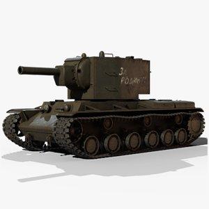 soviet kv-2 gameready 3D model