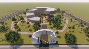 3D revit university model