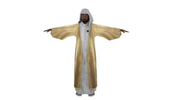 3D muslim man