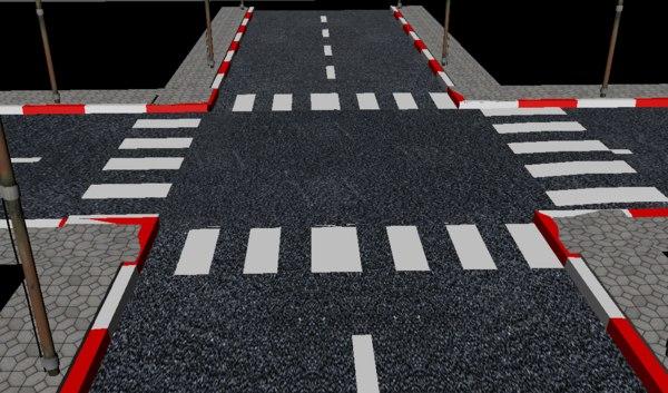 3D street road pol model