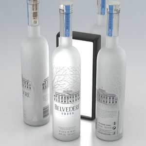 3D model alcohol bottle vodka