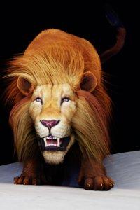 3D lion character blender model