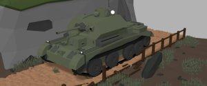 3D model tank isometric a13
