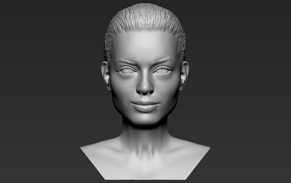 3D margot robbie bust ready