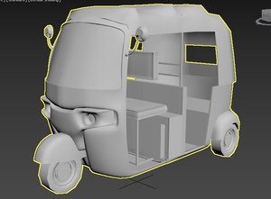 3D autorickshaw vehicle model