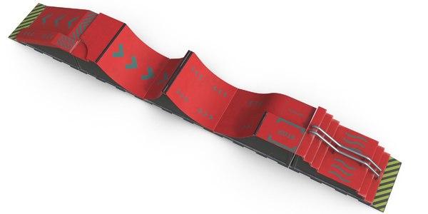 3D skate ramps