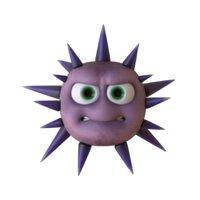 Toon virus monster