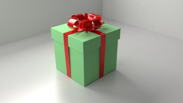 green present 1 ribbon 3D model