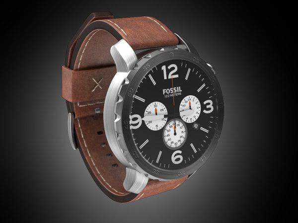3D wristwatch fossil model