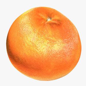 red grapefruit 3D