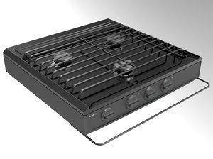 3D hob cooktop