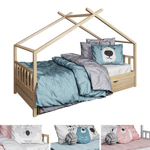 bed vicco hausbett design 3D