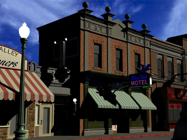blue bird motel 3D model