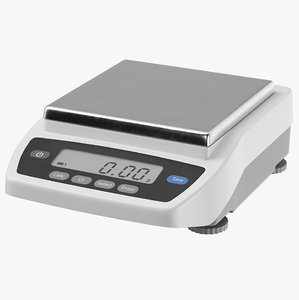 digital scales 3D model