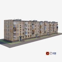 3D soviet house model
