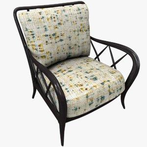 3D armchair wood :