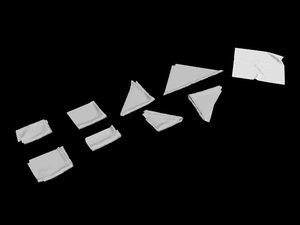 3D model napkin bar serviette square