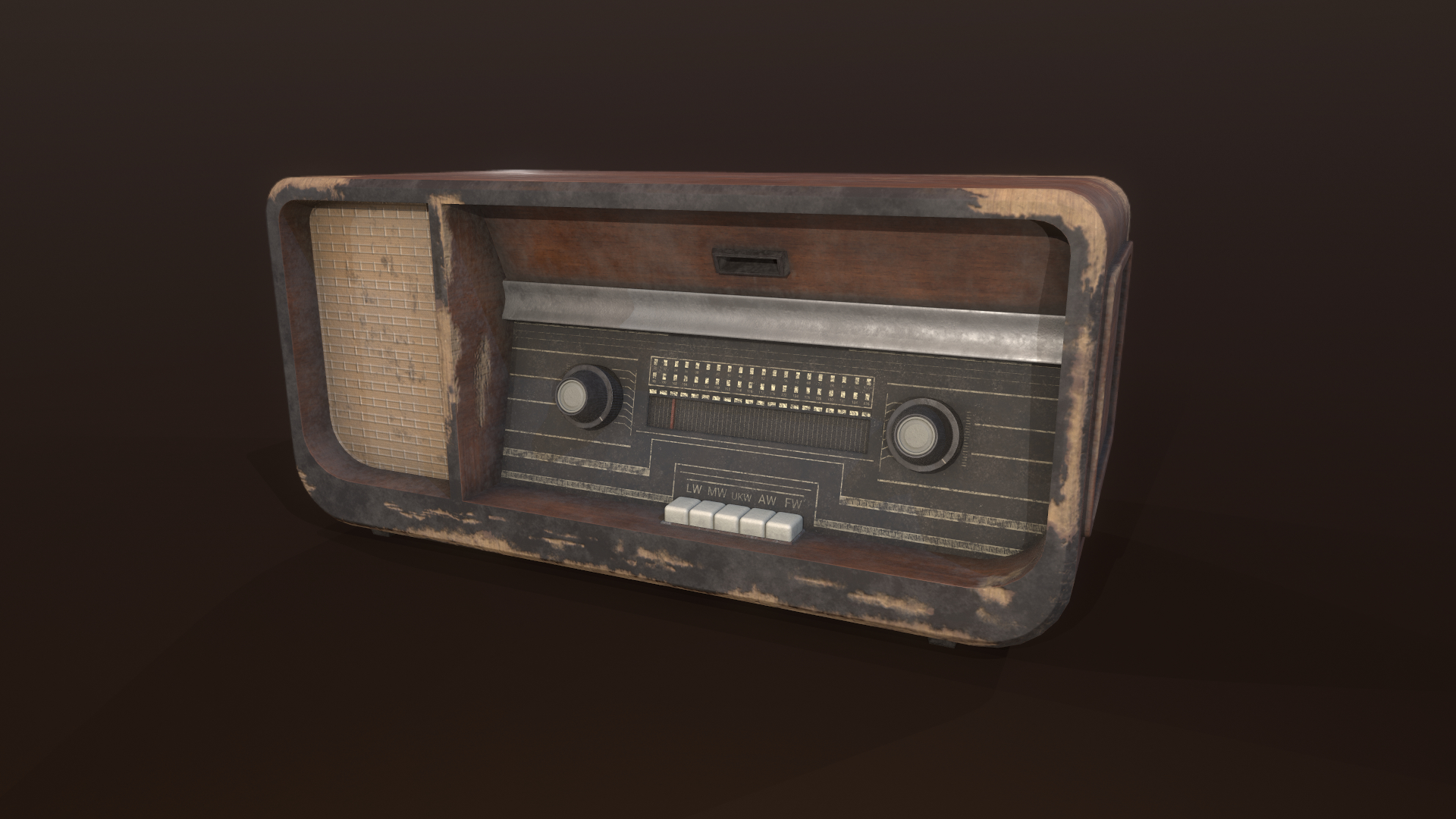 old analog radioreceiver model