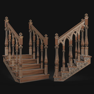 cnc stairs 3D model