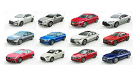 12 Low Poly Sedans v1