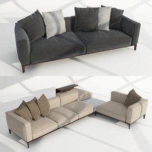 3D giorgetti aton sofa