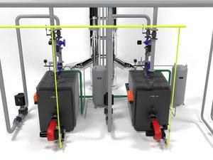 3D viessmann vitoplex boilers model