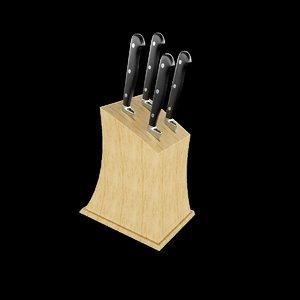 3D knives holder interior designer