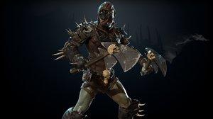 3D armor weapon model