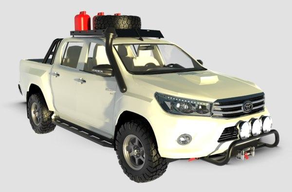 3D model toyota hilux double car