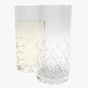 longdrink glass 3d model