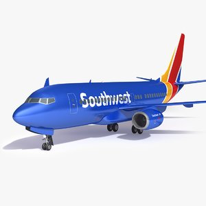 southwest airplane 3D