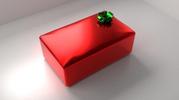 red present 3 ribbon 3D model