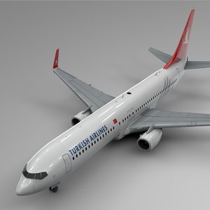 3D turkish airlines boeing 737-800