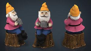 3D garden gnome 6