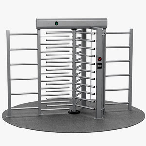3D turnstile height